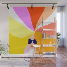 Girl Power - Rainbow Hair #girlpower Wall Mural