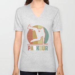 Youth Parkour design for Boys Unisex V-Neck