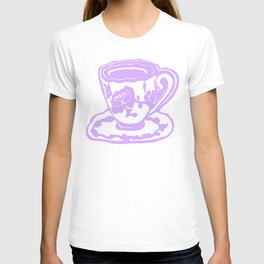 Lavender Teacup Printmaking Art T-shirt