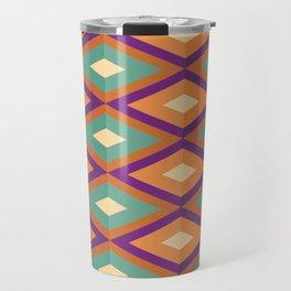 Pattern orange green Travel Mug