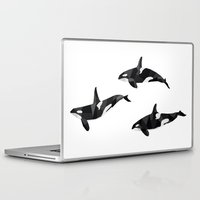 killer whale Laptop & iPad Skins featuring Killer Whale Pod by Graeme McMillan