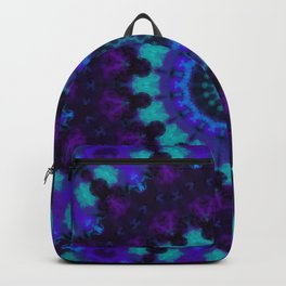 Cyan, Blue, and Purple Kaleidoscope 4 Backpack