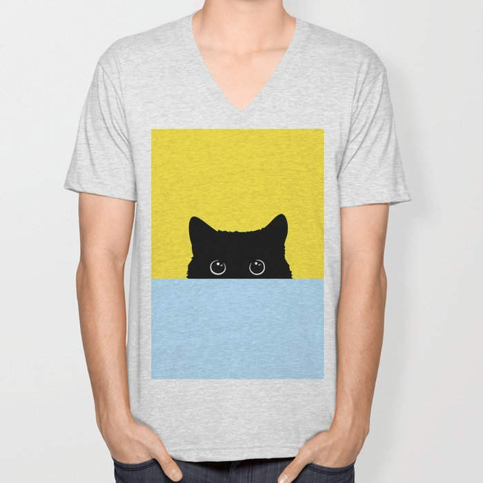 Kitty Unisex V-Neck
