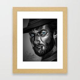 Clint Eastwood Fan Art Framed Art Print