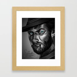 Clint Eastwood Fan Art Framed Art Print