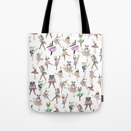 Animal Square Dance Hipster Ballerinas Tote Bag