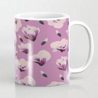 magnolia Mugs featuring Magnolia by Georgiana Paraschiv