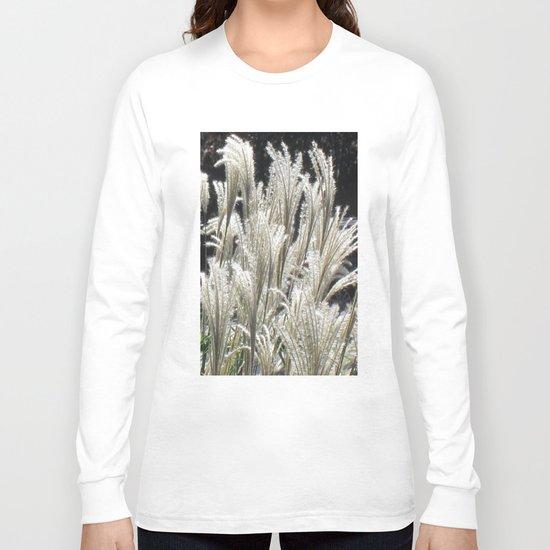 Silver Grass Plumes Long Sleeve T-shirt