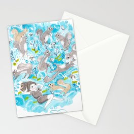 The Meadow Refuses No Squirrel Stationery Cards