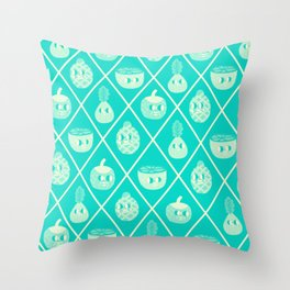 Fruit and Friends Throw Pillow