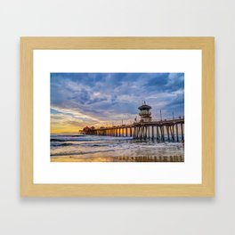 Unsettled Sunset Framed Art Print