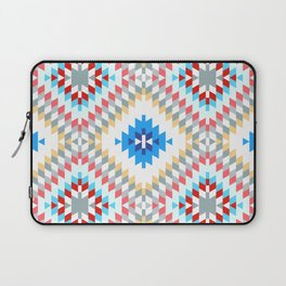 Colorful patchwork mosaic oriental kilim rug with traditional folk geometric ornament Laptop Sleeve