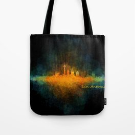 San Antonio City Skyline Hq v4 Tote Bag