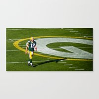 nfl Canvas Prints featuring NFL MVP Aaron Rodgers by David Konieczko