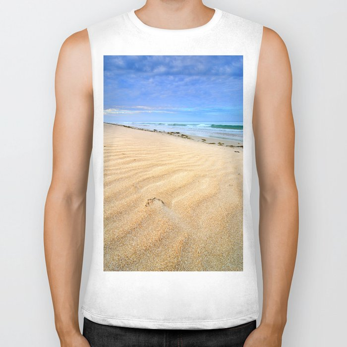"""Levante wind "" Magic Tarifa beach at sunrise Biker Tank"