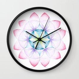 Flower of Life Three Wall Clock