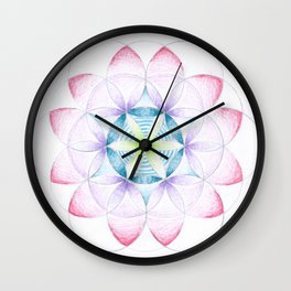 Flower of Life Three Wall Clock