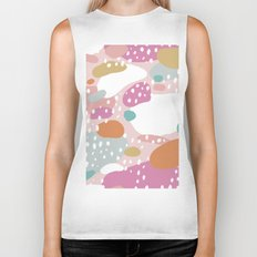 Colorful summer love candy land Biker Tank
