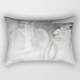 Where does she sit my muse V Rectangular Pillow
