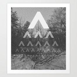Dwindling trees Art Print