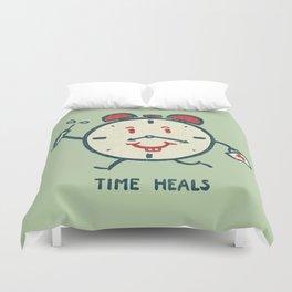 Time heals Duvet Cover