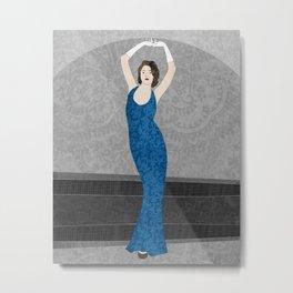Marvelle, a fashion illustration Metal Print