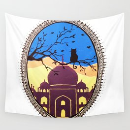 Indian cat view Wall Tapestry