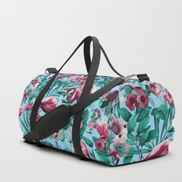 Spring Summer Floral Pattern Duffle Bag