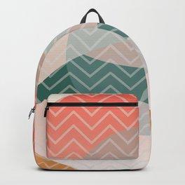 Summer Air, Geometrc Landscape Backpack