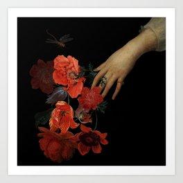 Jan Davidsz. de Heem Hand Holding Bouquet Of Flowers  Art Print