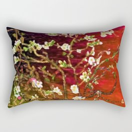 Vincent van Gogh Blossoming Almond Tree (Almond Blossoms) Multi-color Rectangular Pillow