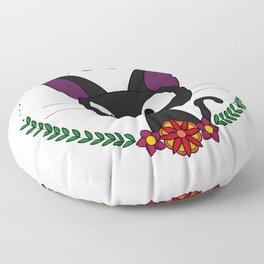 Little Black Cat Floor Pillow