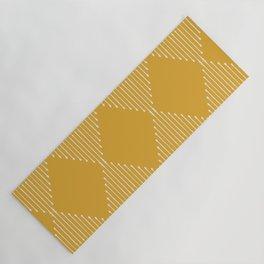 Geo / Yellow Yoga Mat