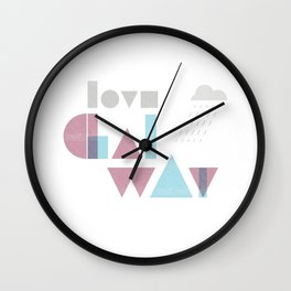 Love Galway - Typography Wall Clock
