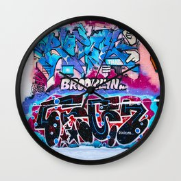 Brooklyn Grafitti Wall Clock