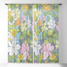 My Flower Design Sheer Curtain