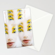 Green Alien Eyes Stationery Cards
