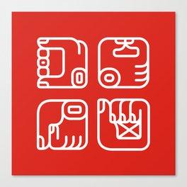 Mayan Glyphs ~ Hands Canvas Print