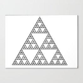 Fractal 3 x 3 Triangle Canvas Print