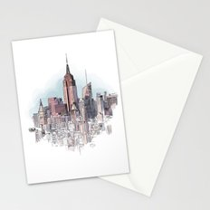 New York cityscape - Architectural illustration Stationery Cards