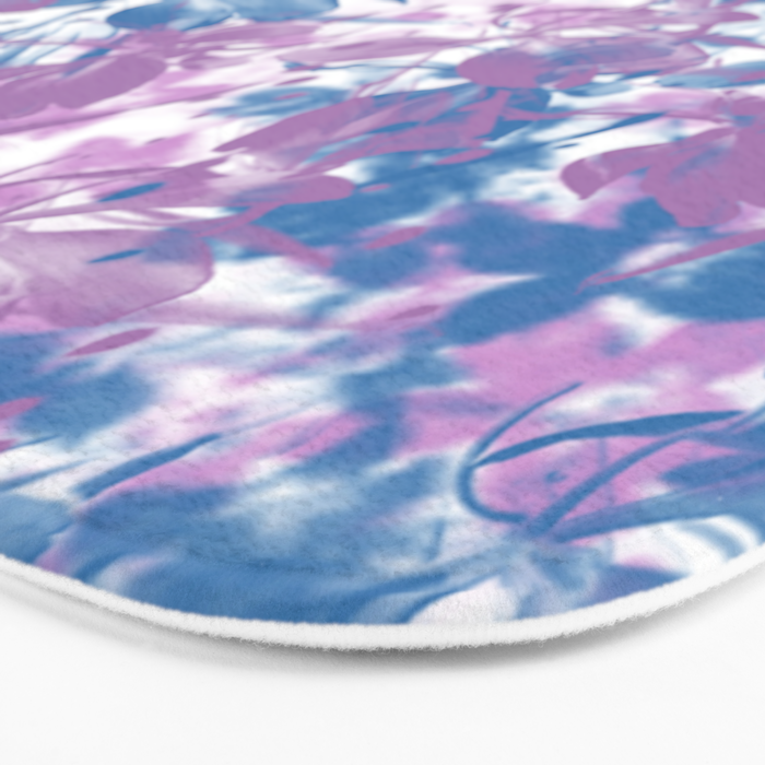 Elegant Painterly Floral Abstract Bath Mat