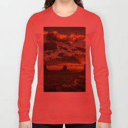 Monument Valley - Vivid Sunrise Long Sleeve T-shirt