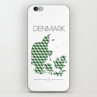 denmark iPhone & iPod Skins featuring DENMARK by Artwork by Eberhardt