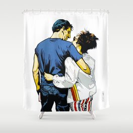 No Time For Fighting Shower Curtain