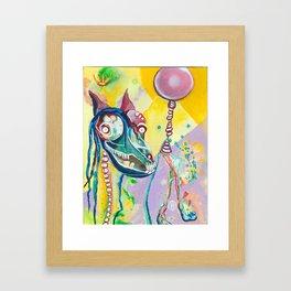 Walking My Dream Horse Framed Art Print