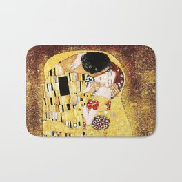 The Kiss with Painterly Effect Bath Mat