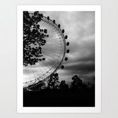 London Eye: Through The Trees Art Print