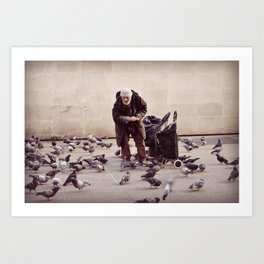 Human greatness Art Print