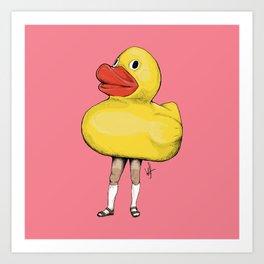 Yellow Duck / Canard Jaune Art Print