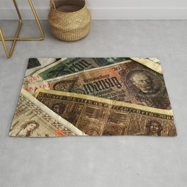 Old German money Altes Deutsches Geld Rug